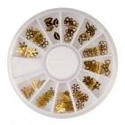 Auksinių dekoracijų rinkinys