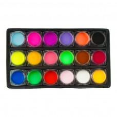 Spalvoto akrilo rinkinys dėžutėje, 18 spalvų