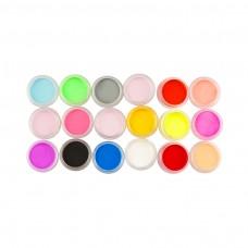 Spalvoto akrilo rinkinys, 18 spalvų