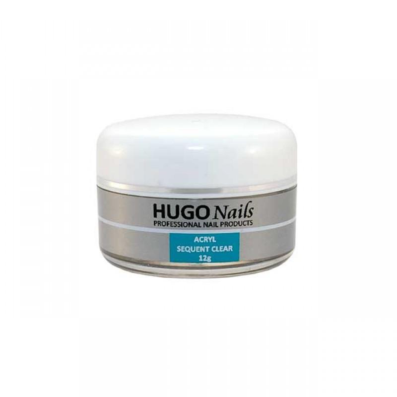 HUGO Nails akrilo pudra, rožinė, 12g