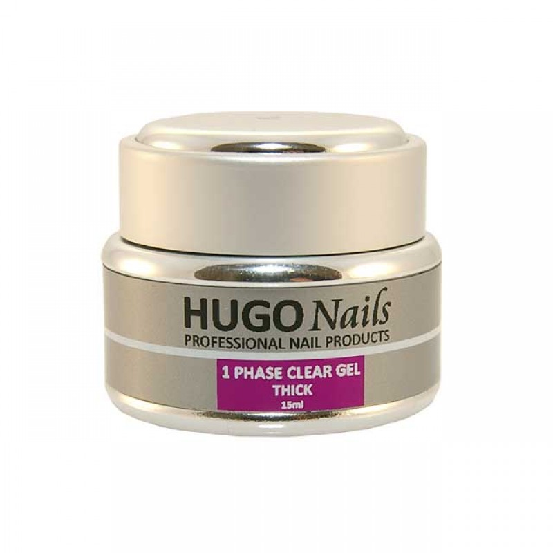 """HUGO Nails """"Thick"""" tirštas formuojamasis UV gelis 15ml"""